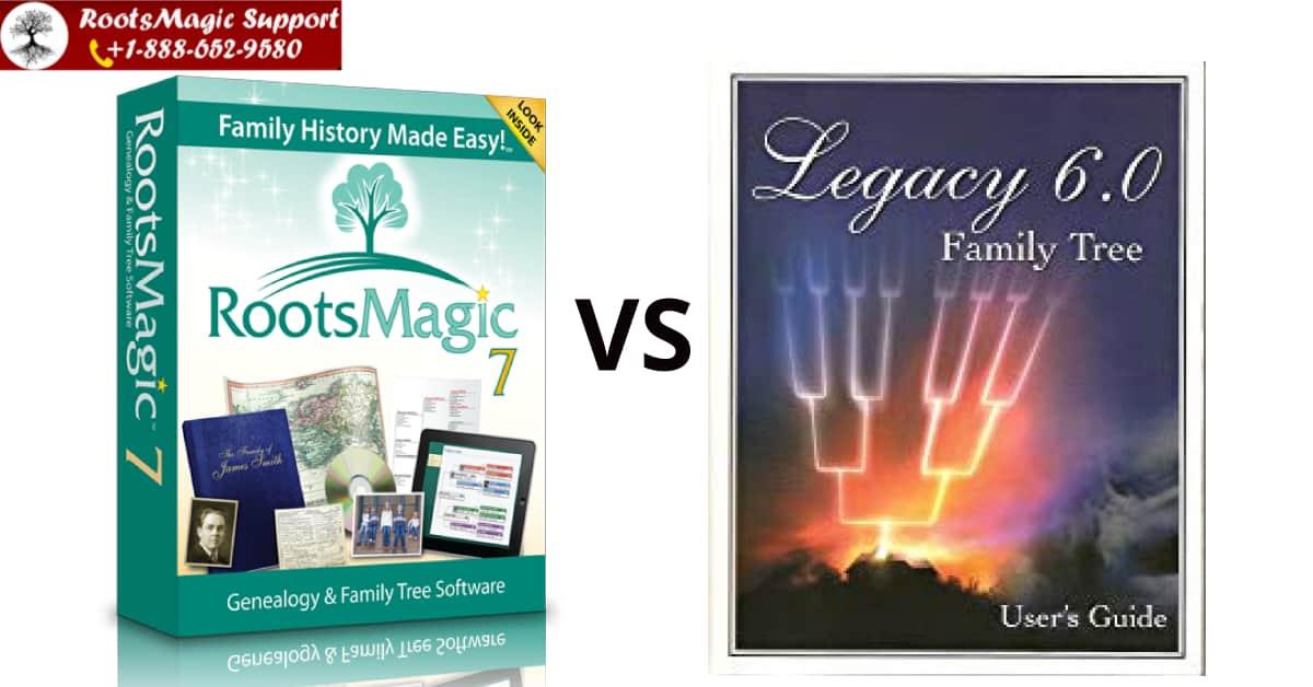 RootsMagic Vs Legacy